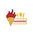 pizza restaurant logo design vector image vector image