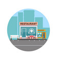 restaurant and bakery colorful front vector image vector image