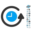 Restore Clock Icon With Copter Tools Bonus vector image