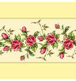 rose pattern on yellow horizontal vector image