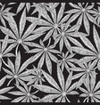 seamless cannabis background marijuana leaves on vector image vector image