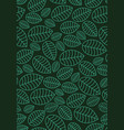 seamless linear leaves pattern vertical plant vector image vector image