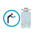 Servant Rounded Icon with 1000 Bonus Icons vector image vector image