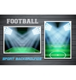 Set Backgrounds of football stadium vector image vector image