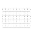 set of horizontal rulers - lenght and size vector image