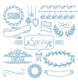 Set of spring ribbons and elements vector image vector image