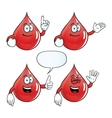 Smiling blood drop set vector image vector image