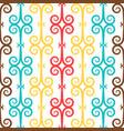 spanish curl ornamental ceramic tile vector image vector image