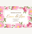 spring wedding invitation card vector image vector image