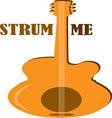 Strum Me vector image vector image