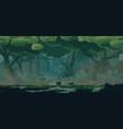 swampabandoned wooden huts wooden bridges vector image vector image