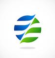 swirl round globe communication logo vector image