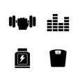training simple related icons vector image vector image