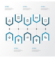 transport outline icons set collection of vector image vector image