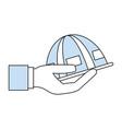worker helmet cartoon vector image vector image