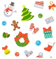 Christmas holiday seamless background pattern vector image