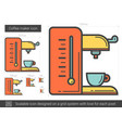coffee maker line icon vector image