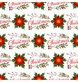 christmas floral wreath winter pattern floret vector image