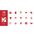 15 gift icons vector image vector image