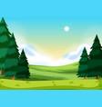 a flat nature landscape vector image vector image