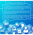 abstract infographic blue background vector image