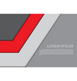 abstract red gray arrow design modern vector image vector image