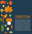 autumn letterhead template in flat style vector image vector image