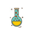 beaker flask lab icon design vector image