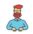 bearded man beard boss manager barbershop vector image