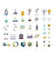 Big science icons set Isolated on white lab vector image vector image