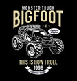 bigfoot custom monster truck vector image