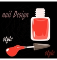 bottle nail polish on the black background vector image