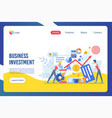 business investment flat landing page vector image vector image