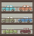 Cars In Parking Building vector image