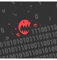 Cartoon Computer Virus vector image vector image