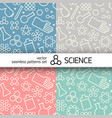 chemistry symbols pattern vector image vector image