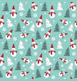 christmas seamless pattern with pine tree and vector image