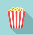cinema popcorn box icon flat style vector image vector image