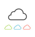 cloud icon flat line vector image