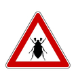 cockchafer attention sign vector image vector image