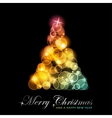 colorful stylized christmas tree vector image vector image
