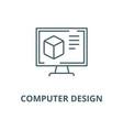 computer design line icon computer design vector image