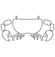 crab the black color icon vector image