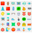 cyber crime icons set cartoon style vector image vector image