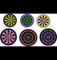 Dartboards set vector image vector image
