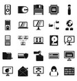 data recovery icons set simple style vector image vector image