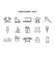 design various summer symbolsand vector image