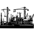 Docks and Cranes vector image vector image