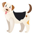 dog with happy face vector image