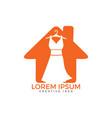dress boutique or fashion atelier salon logo vector image vector image